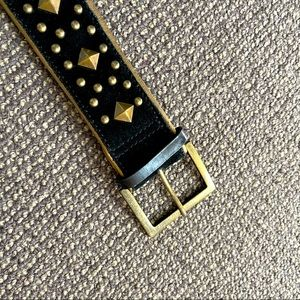 100% leather belt